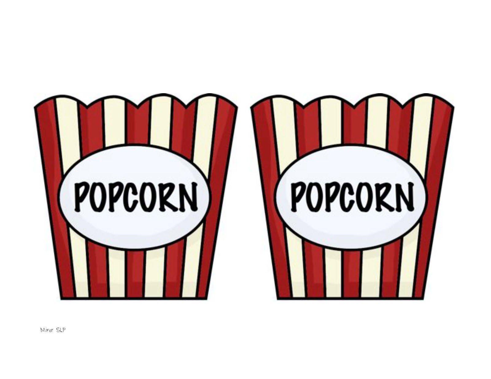 Popcorn Box Template Clipart Popcorn Theme Classroom Popcorn
