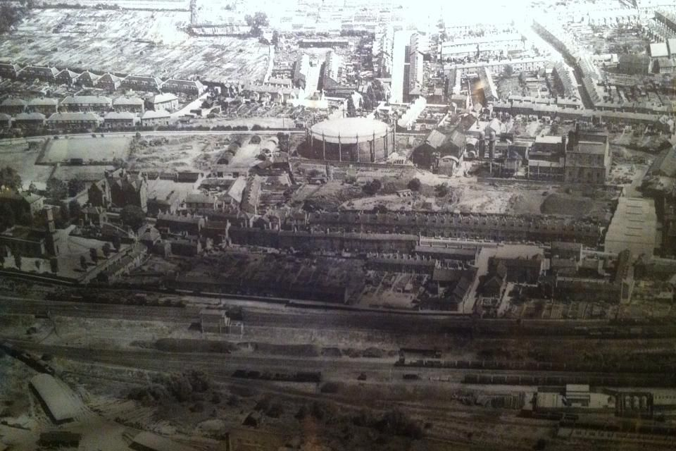 Ariel photo of Castlefields and St Michael Street