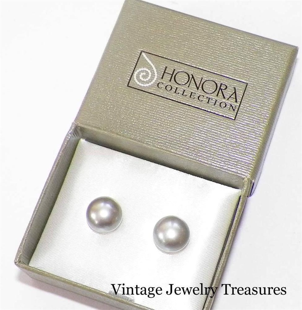 Details about HONORA FRESHWATER PEARL 8 5MM GREEN STERLING