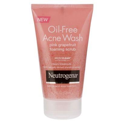 Neutrogena Oil Free Acne Wash Pink Grapefruit Foaming Scrub 4 2 Fl Oz Oil Free Acne Wash Acne Wash Neutrogena