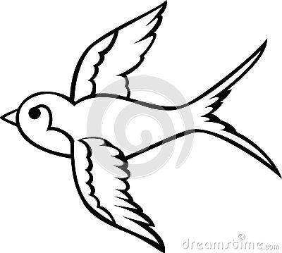 Swallow Stock Illustrations 2 047 Swallow Stock Illustrations Vectors Clipart Swallow Bird Tattoos Bird Outline Tattoo Bird Outline
