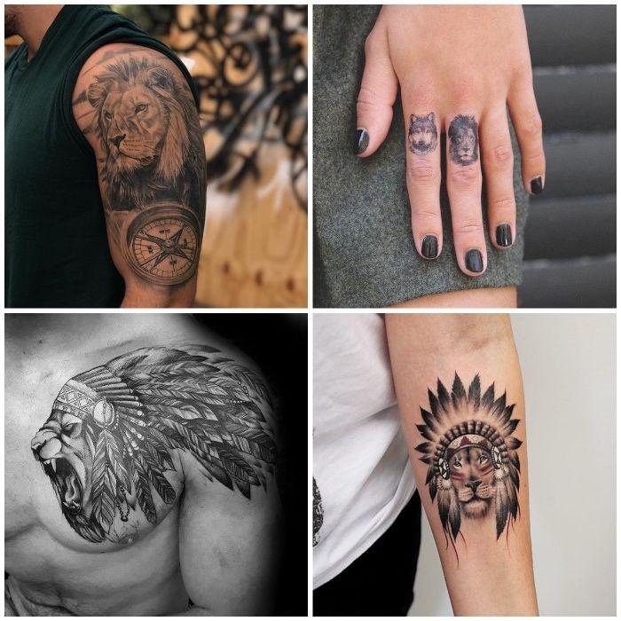 1001 coole l wen tattoo ideen zur inspiration tattoo. Black Bedroom Furniture Sets. Home Design Ideas