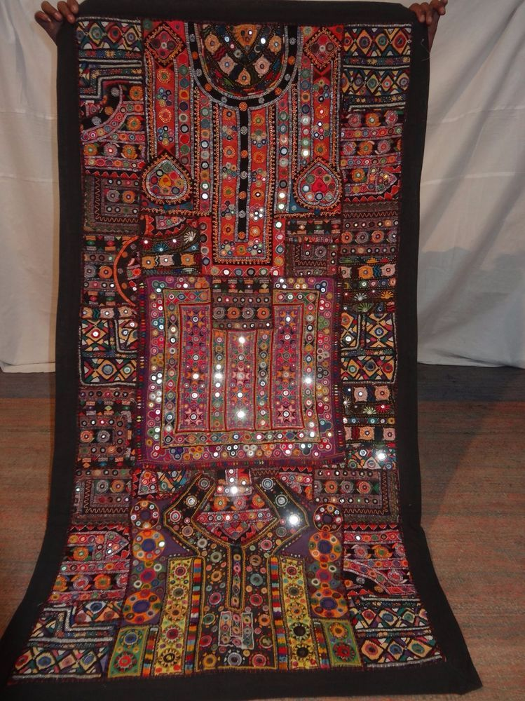 Magnificent Antique Indian Embroidery Wall Hanging Tapestry Patchwork Handmade Tapestry Wall Hanging Tapestry Decor Design