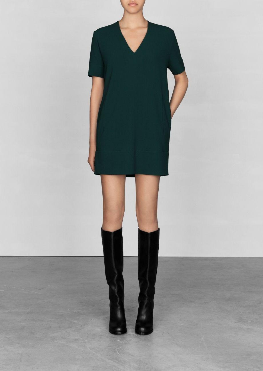 Dress w/ V shapes :: & other stories