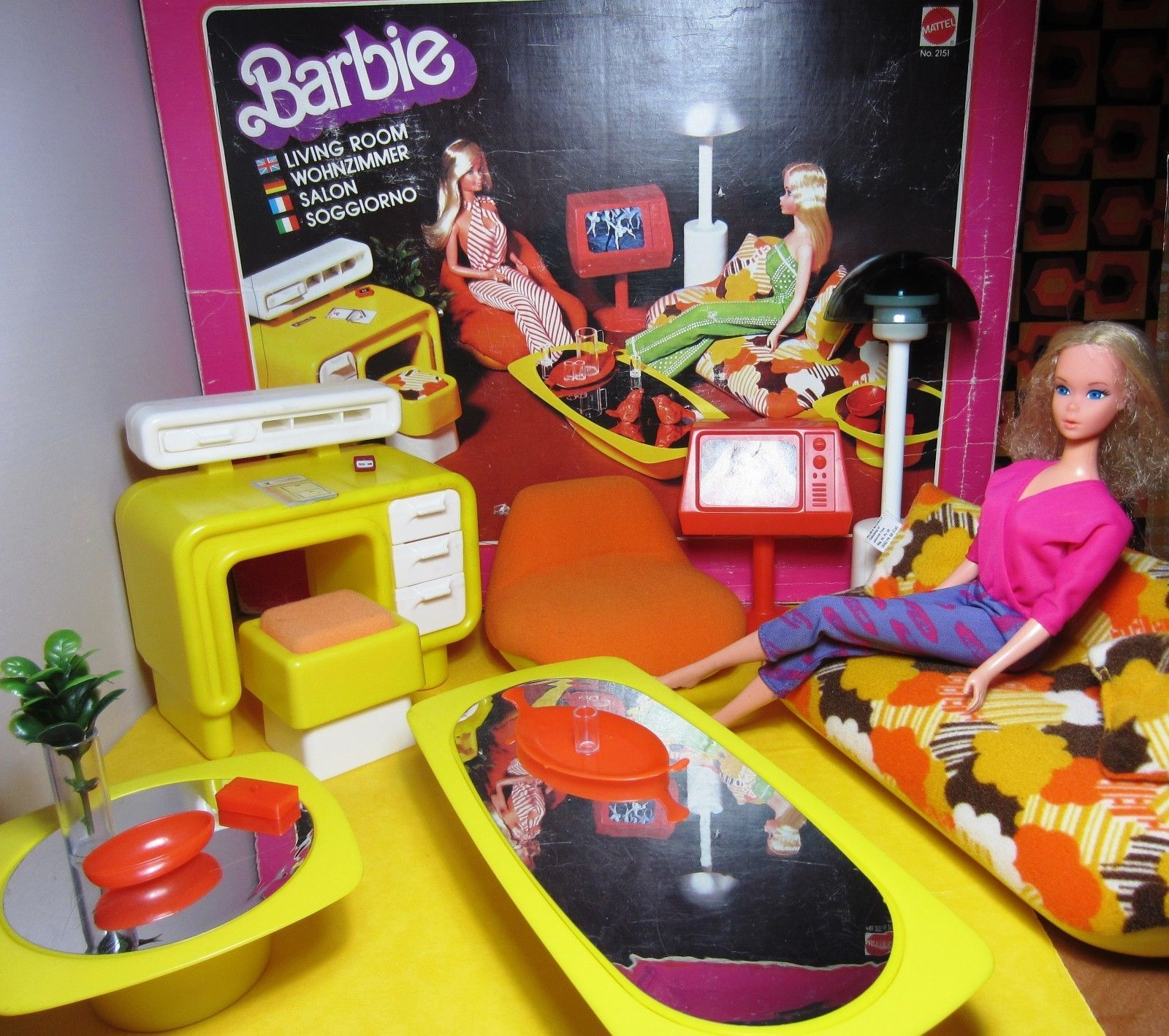 Barbie Bedroom In A Box: Vintage 1977 Barbie Living Room Furniture Original Box