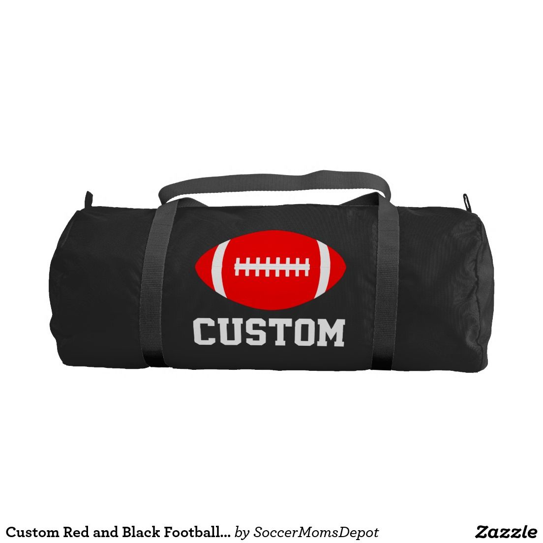 Custom  Red  Football  Equipment  Duffel  Bag...Great for football coaches  or players with red team colors. Add your own team name or other  text...only on ... 3efeb8e64acdc