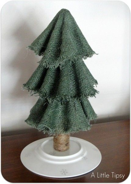 Make Easy Burlap Christmas Trees By Dollar Store Crafts Holiday