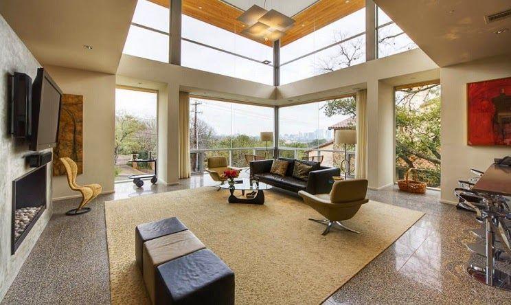 Casa moderna con vistas a austin by dick clark - Decoracion casa moderna ...
