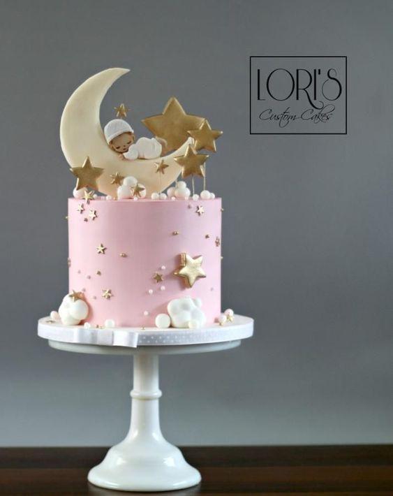 25 Tartas De Bautizo Para Nenas Bebeazul Top Pink Baby Shower Cake Amazing Baby Shower Cakes Baby Shower Cakes Girl