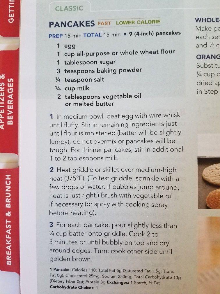 Betty Crocker Pancake Recipe