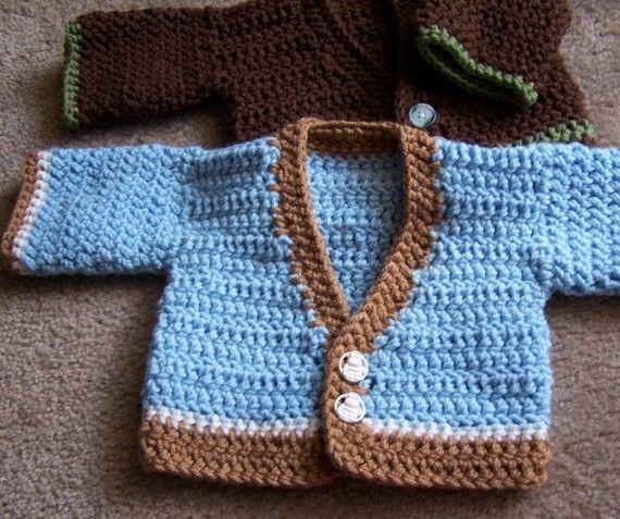 915533166 Easy Baby Sweater Pattern by yayhookdcrochet on Etsy
