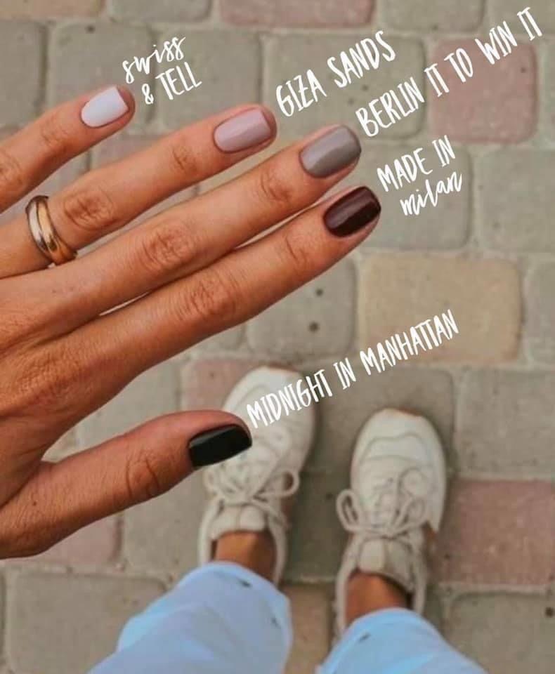 Color Street neutral dry nail polish