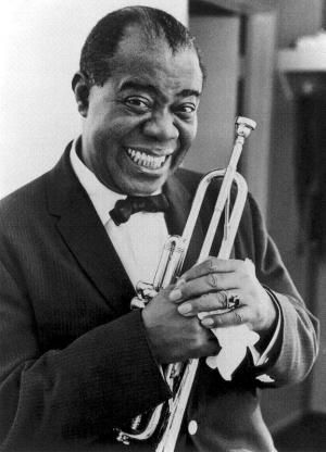 The wonderful Louis Armstrong was born today 8-4 in 1901. His inventive trumpet playing, scat singing, duos with so many of the famous singers through his years have left us with a rich arsenal of great 'Satchmo' songs. His charismatic stage presence was like no other - he was a unique gift to American music. He passed away in 1971 and has been inducted into the Rock and Roll Hall of fame.