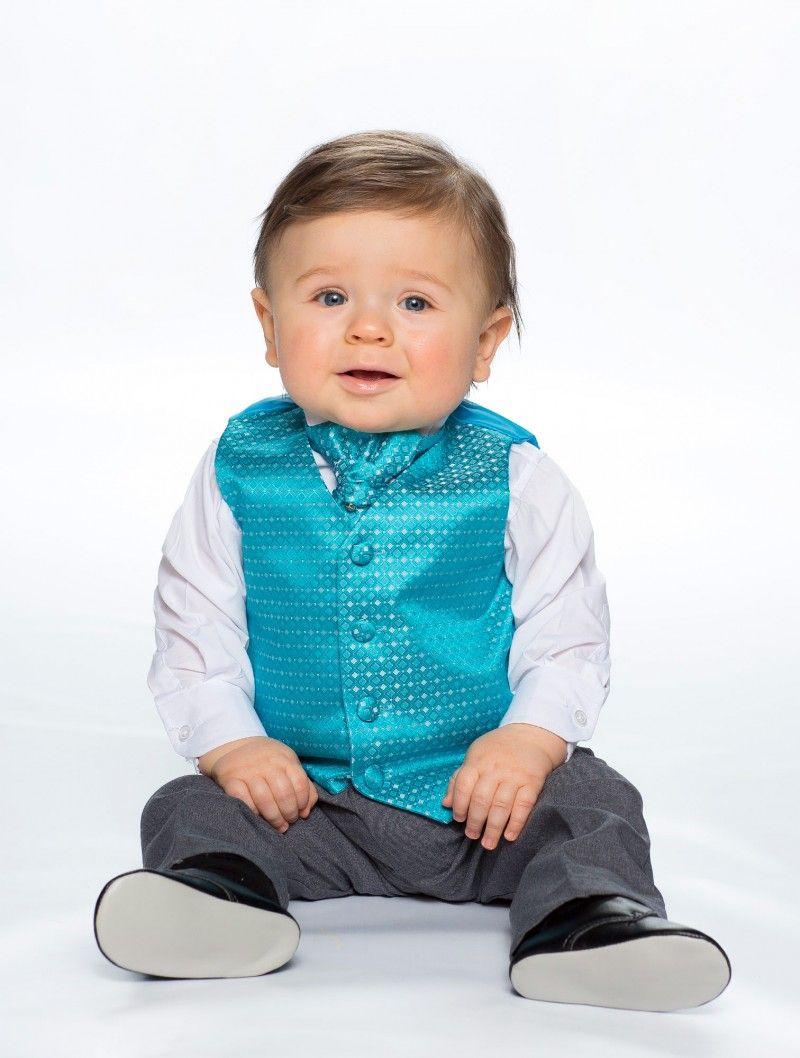 Baby boys aqua waistcoat suit - Nicholas | Pinterest | Baby boy suit ...