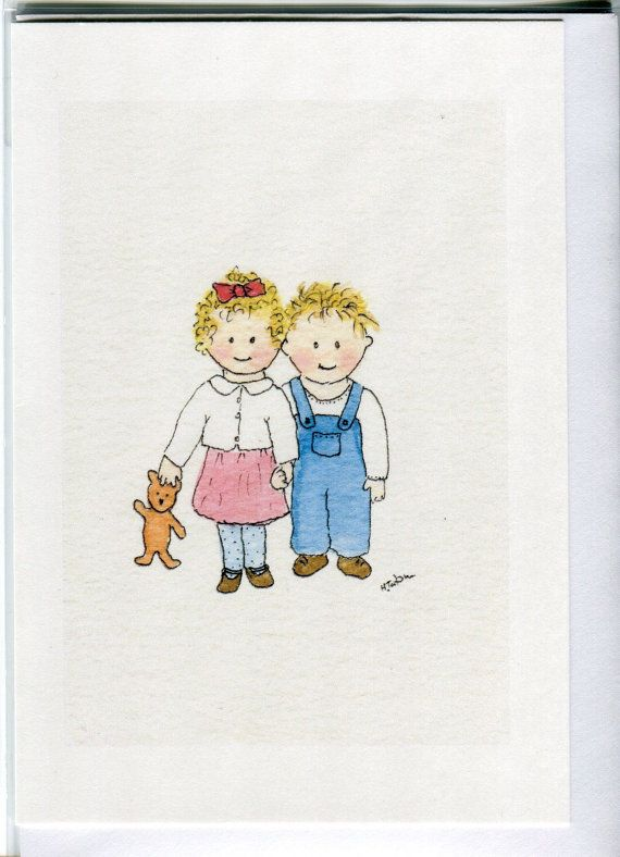No 113 Childrens Card Brother And Sister Sibling For Twins Twin Birthday Cards Blank Boy Girl Handmade