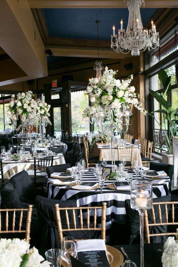 Beautifully Bold Black and Gold Wedding at Cafe/Bar Lurcat