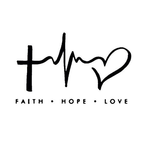 Faith Hope Love Laptop Car Vinyl Window Decal Sticker 4hx6w
