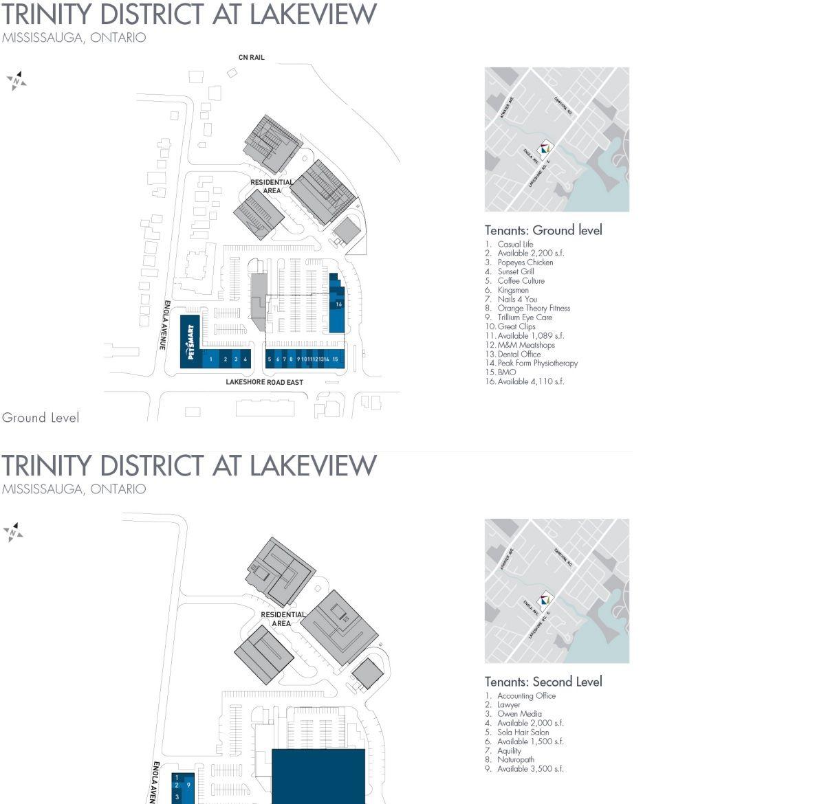 Trinity District at Lakeview shopping plan Lake view