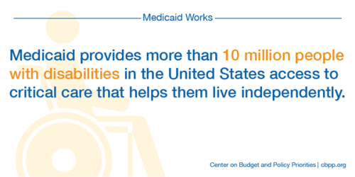 """""""#Medicaid not only helps kids, babies & seniors, but people w/ disabilities too."""" via Center on Budget and Policy Priorities. (click through to read more)"""