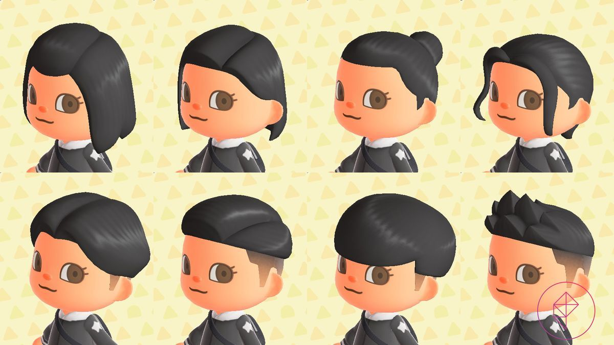 Animal Crossing New Horizons Switch Hair Guide Polygon In 2020 Animal Crossing Hair Animal Crossing Animal Crossing Hair Guide