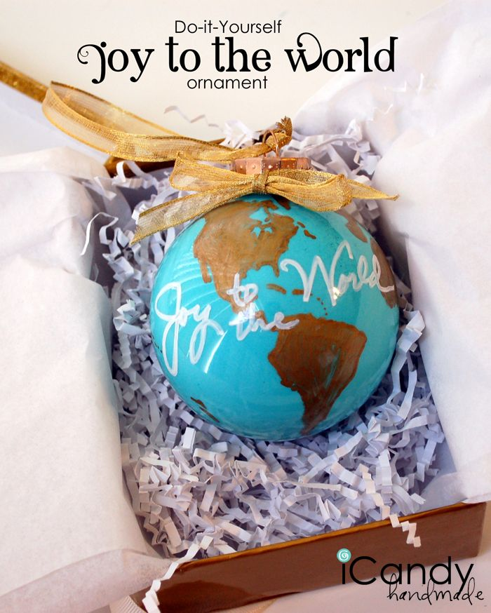 Diy ornament idea from amousser joy to the world ornament diy ornament idea from amousser joy to the world ornament painted ornament solutioingenieria Choice Image