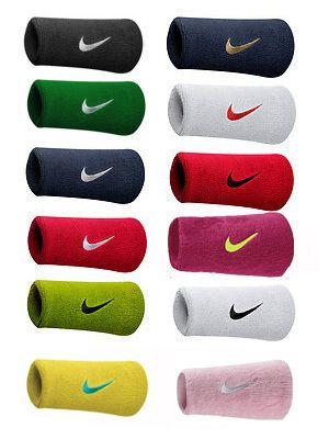 Nike 1 Pair Doublewide Sports Wristbands Tennis Squash Badminton Sweatbands Ebay Sweatband Badminton Wristbands
