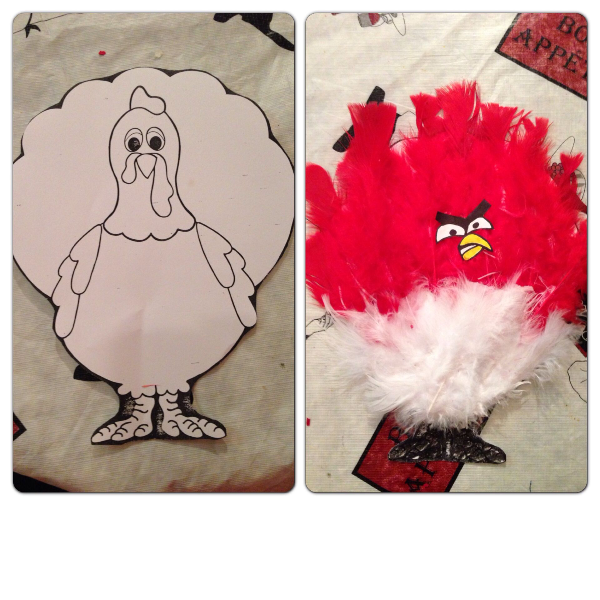 Disguise Tom Turkey Angry Bird Version