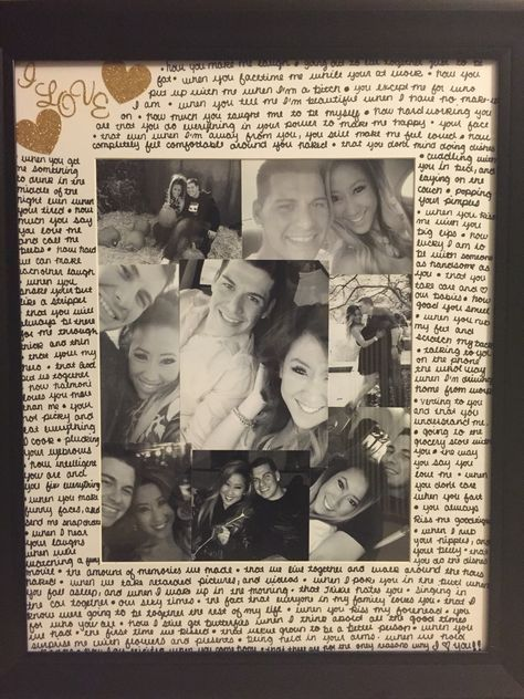 Picture Frame I Made For A Gift For My Boyfriend Gifts For My