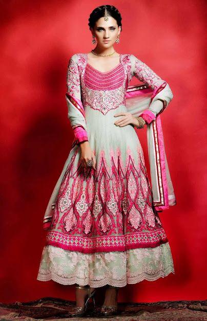 #anarkali #dress #pink #Indian #fashion #bollywood #bridal