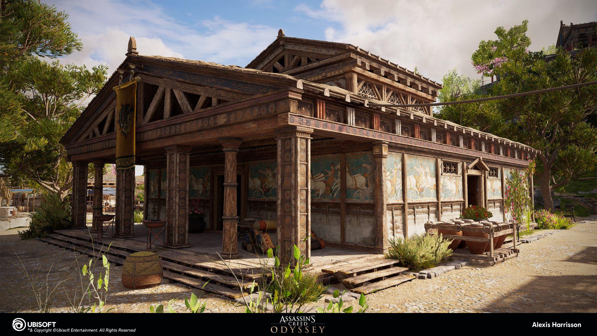 Artstation Assassin S Creed Odyssey Wood Public Buildings