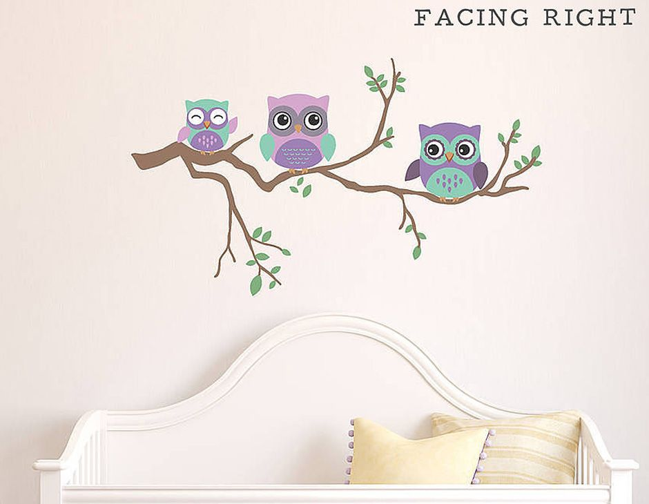Owl Decals For Walls Wall Decal Stickers Set Easy Use And