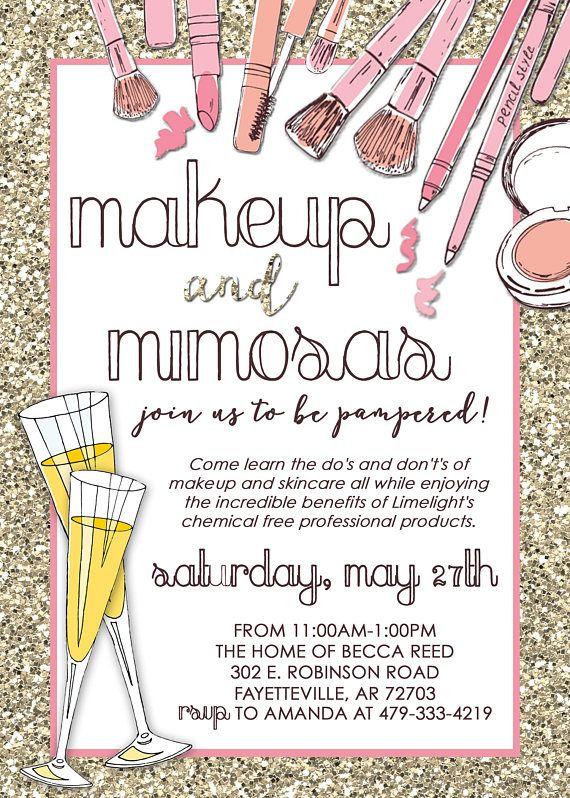 Limelight Makeup Party Invitation Mary Kay, Lipsense