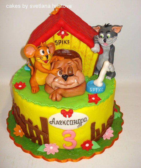 TomJerry Spike Cake by Svetlana Hristova Cakes Pinterest
