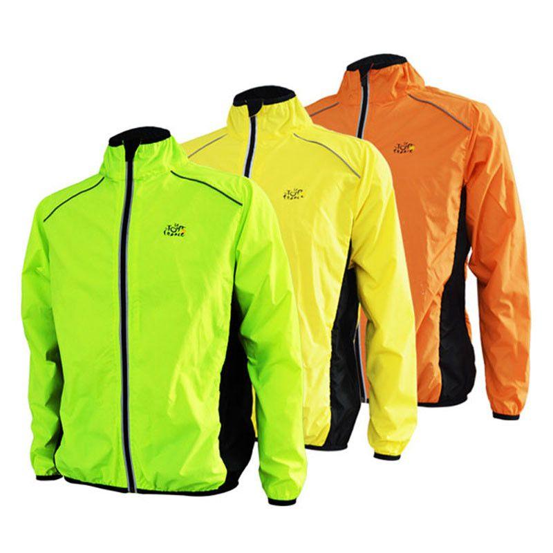 Cycling Long Sleeve Jacket Sportswear for Bike Riding Racing Running Orange