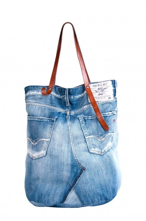 94a99a36afb2 Jeans to Bag Inspiration.  3 this bag by replay