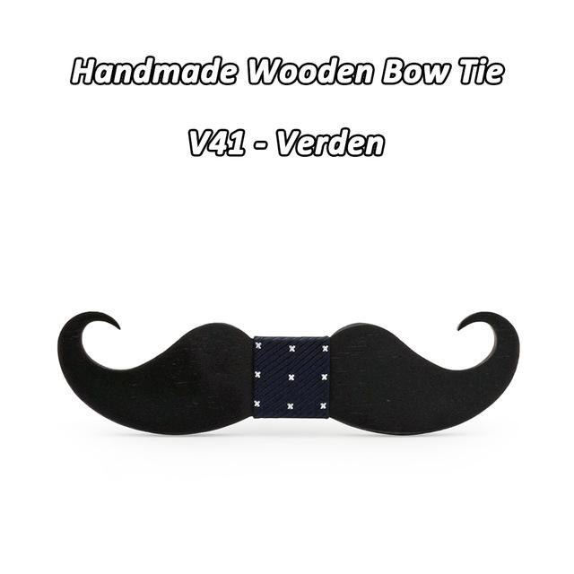 6b40a1a1ec71 Mahoosive novelty neckties Handmade mustache Wooden bow tie men bowtie mens  neck ties factory wholesale free