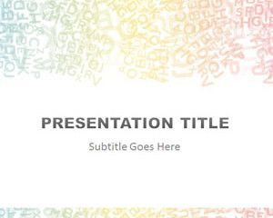 Alphabet Colored Powerpoint Template Powerpoint Template Free Powerpoint Templates Business Powerpoint Templates