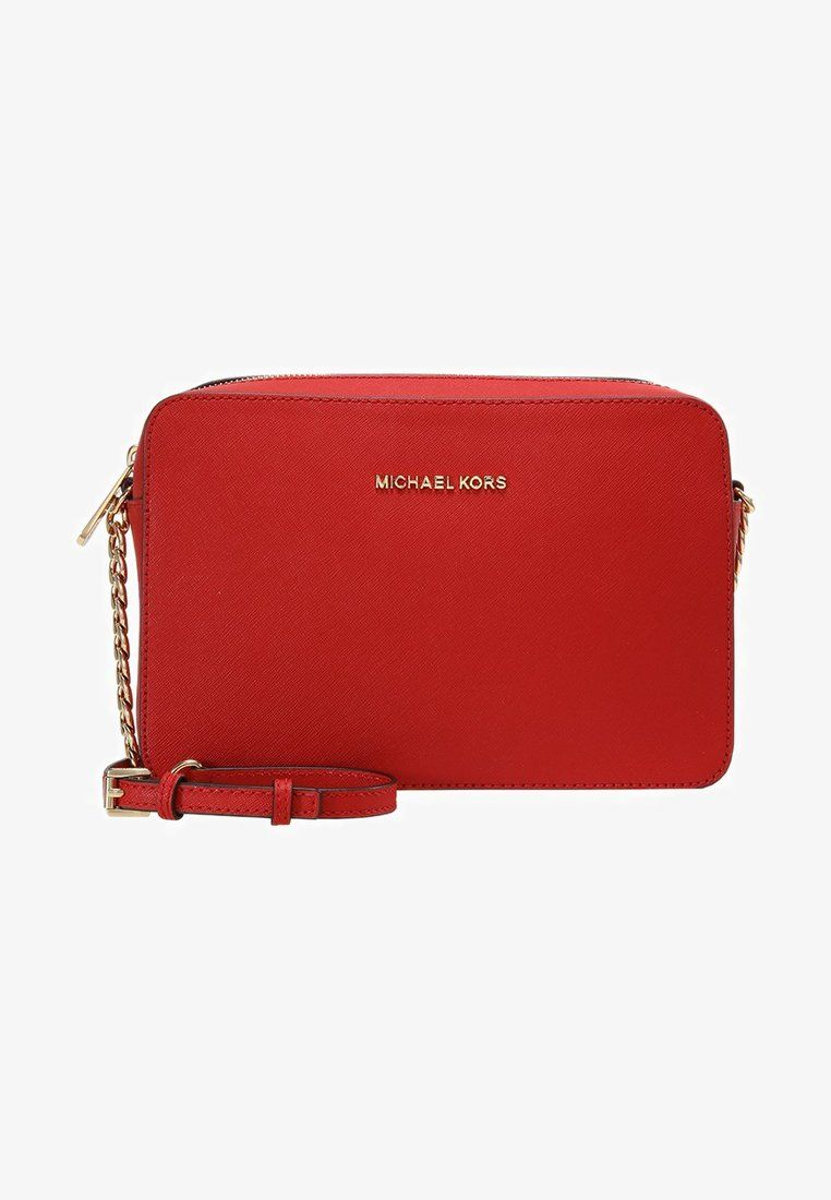 8f1ebd9d8d96bd MICHAEL Michael Kors JET SET TRAVEL CROSSBODY - Axelremsväska - bright red  - Zalando.se