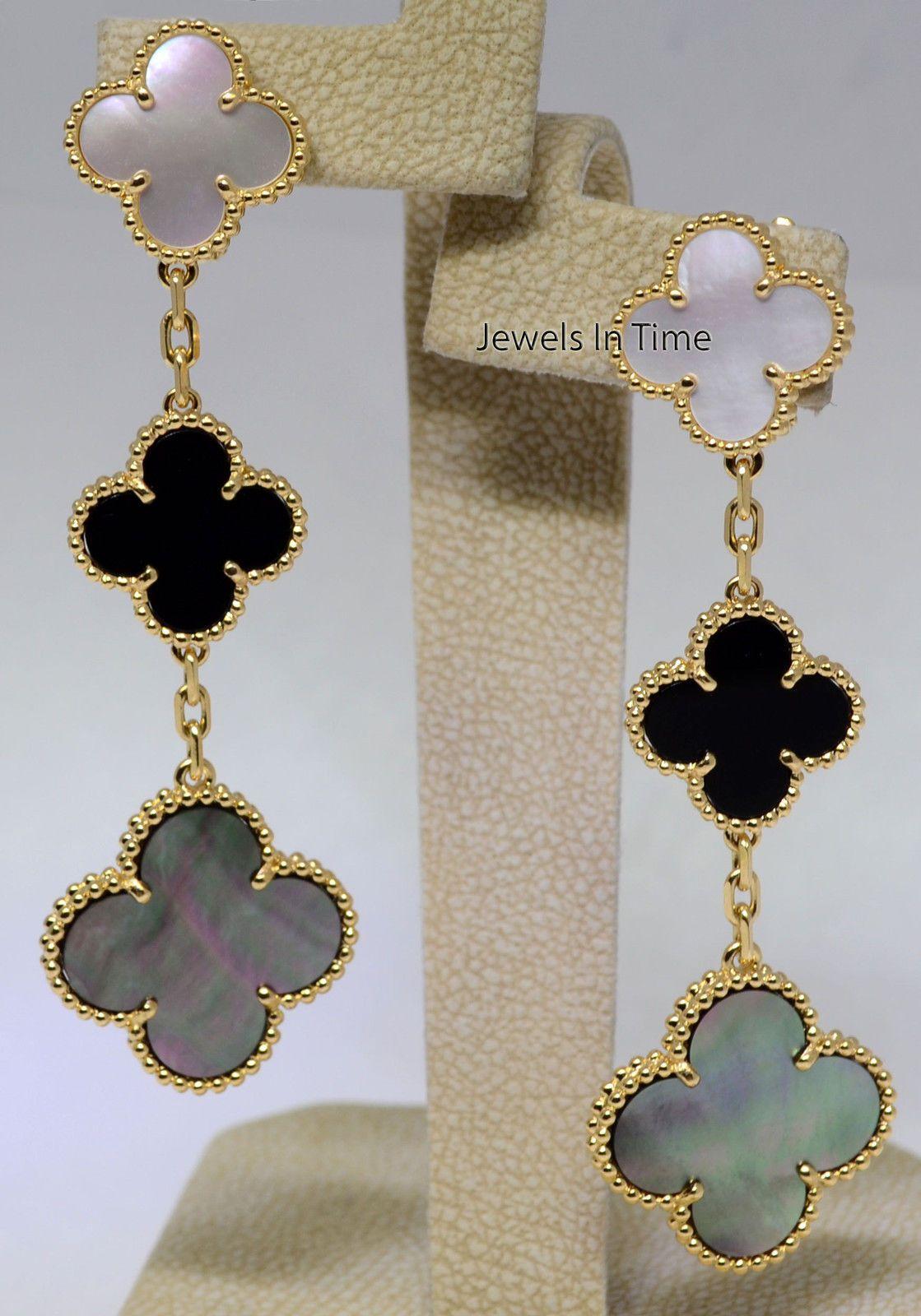 Van cleef arpels magic alhambra earrings