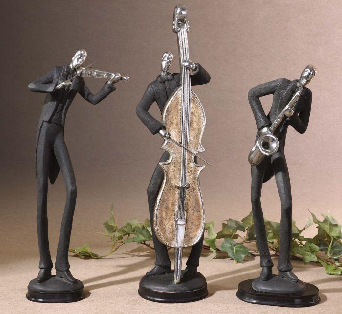 Pizzazz! Home Decor: Unique Home Decor - Musicians Table Statues S/3 ...