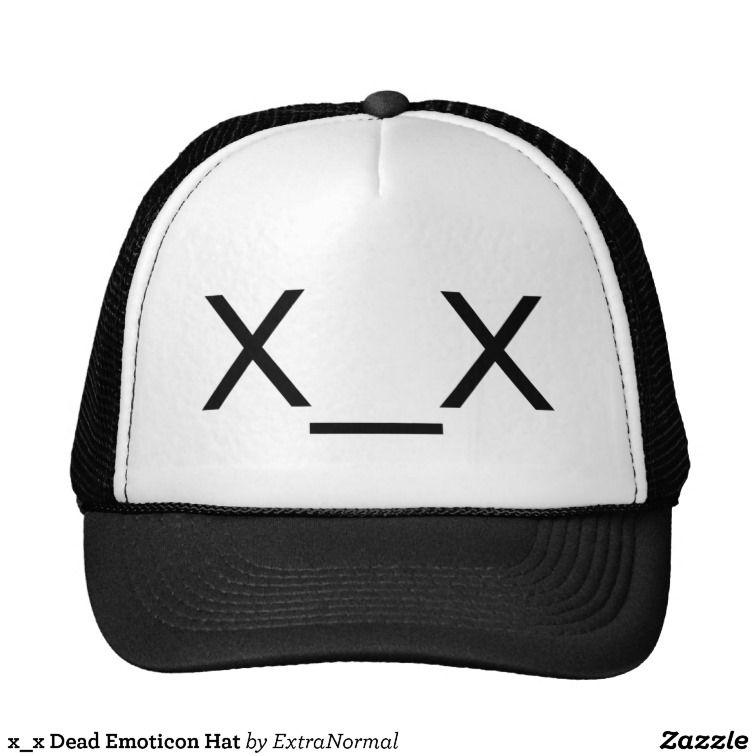 X X Dead Emoticon Hat Zazzle Co Uk Hats Emoticon Water Polo