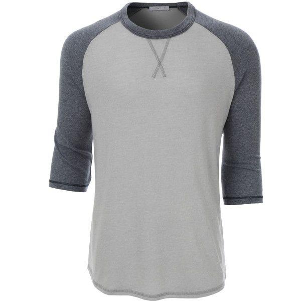 2291657138a LE3NO PREMIUM Mens Vintage Ultra Soft 3 4 Raglan Sleeve Baseball Tee ( 19)  ❤ liked on Polyvore featuring men s fashion