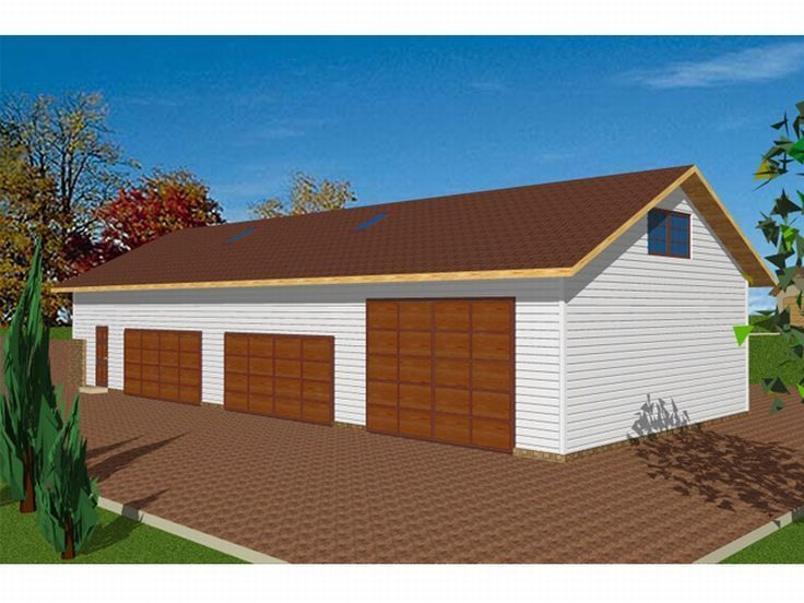 4car garage with office RV storagework space and attic storage – Garage Plans With Rv Storage