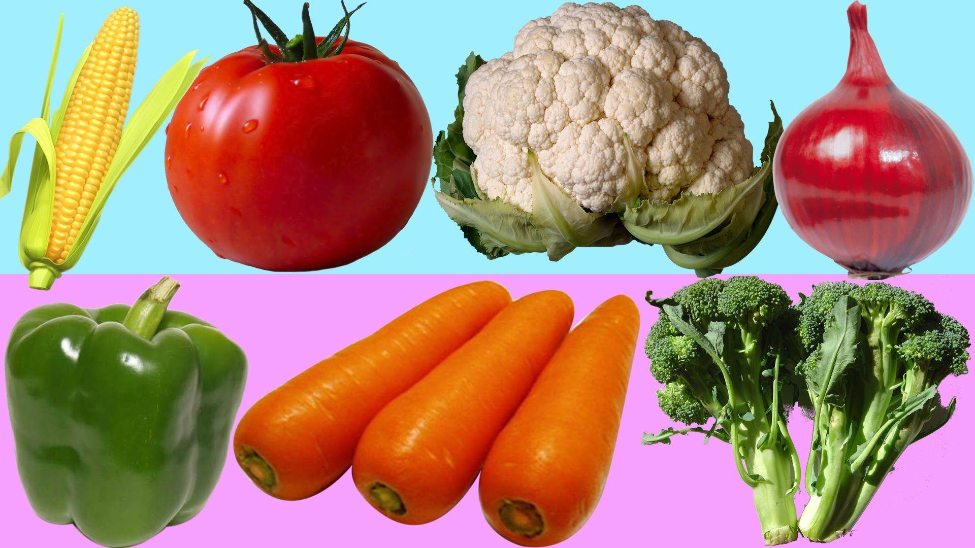 Vegetable Names For Children Kids Toddlers Preschool Fruit Name