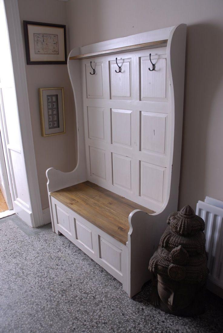 Hallway storage and seating  Found on Google from pinterest  Kitchen Ideas  Pinterest