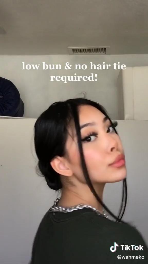 Low Bun Hair Tutorial Video In 2020 Hair Tutorial Hair Styles Aesthetic Hair