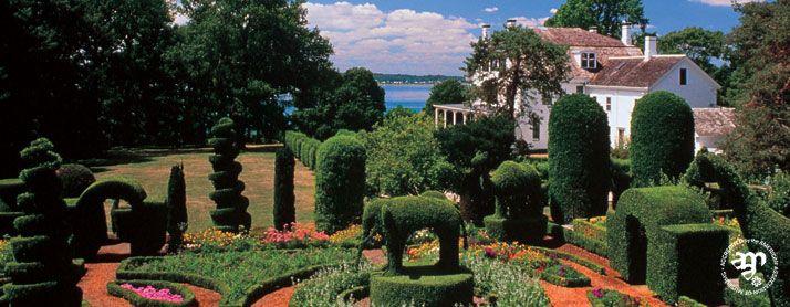 The Green Animals Topiary Garden In Rhode Island! Elepephants, Bears And  Giraffes In Lush
