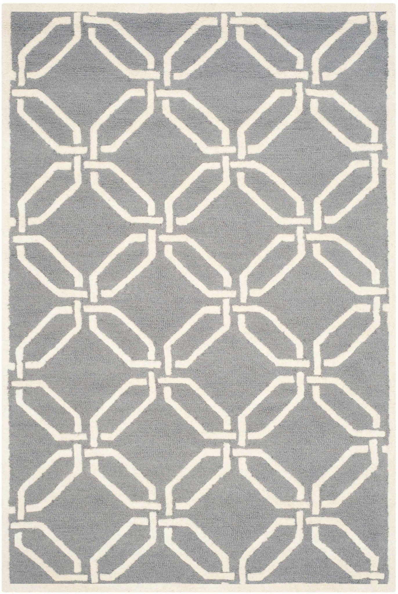 Safavieh Cambridge 9 X 12 Morgan Wool Rug In Silver Ivory Area