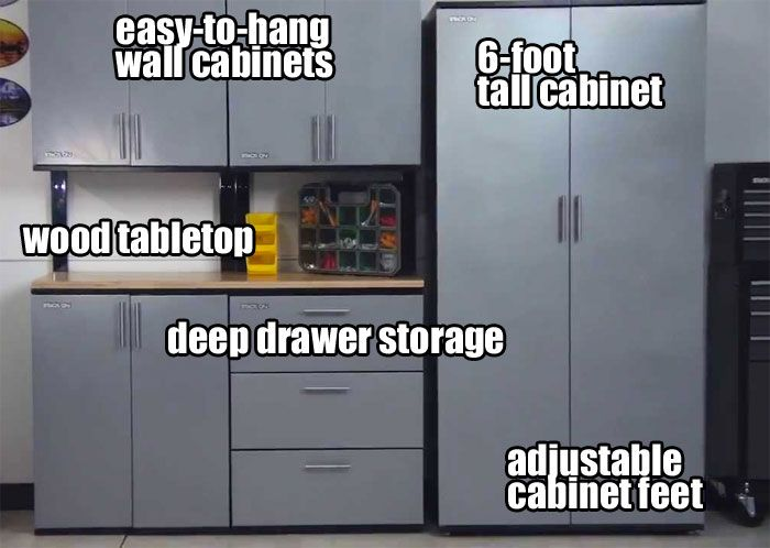Stack-On Garage Cabinets Look High-End but have a Low Cost. They ...