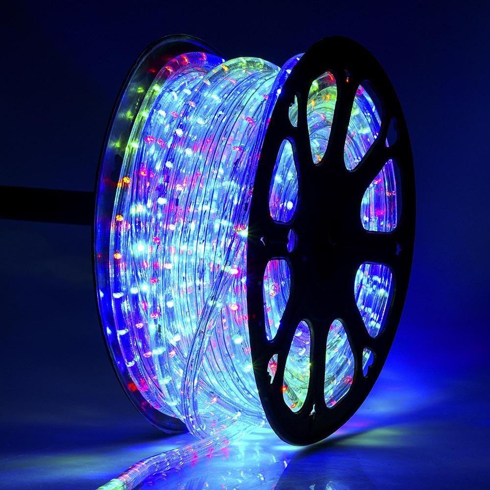 Delight holiday lighting led rope light spool multi color 150ft delight holiday lighting led rope light spool multi color 150ft aloadofball Choice Image